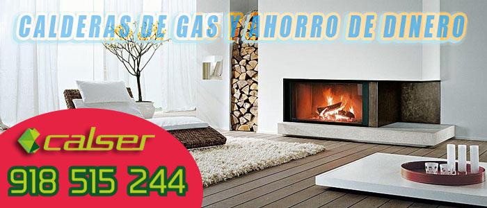 Casa calentada con gas natural como si fuese una chimenea ahorrando dinero