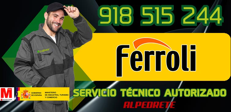 servicio técnico calderas Ferroli en Alpedrete